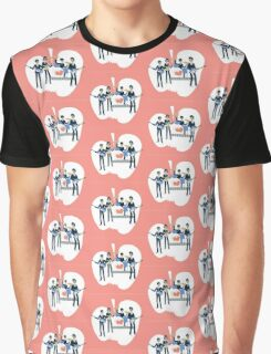Sixties Style rock band playing music. Graphic T-Shirt