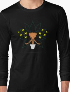 Yoga with the Butterflies  Long Sleeve T-Shirt