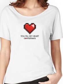 Video Game Geek Pixel Heart | You Fill My Heart Containers  Women's Relaxed Fit T-Shirt