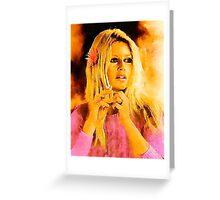 Brigitte Bardot Hollywood Icon by John Springfield Greeting Card