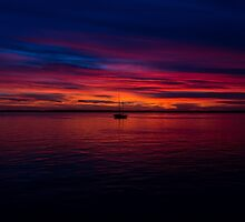 Boat in a Sunset by Squizzys