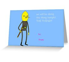 Adventure Time - Earl of Lemongrab Valentine Simple Version Greeting Card
