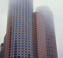 Foggy skyscrapers Sticker