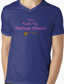 I am No Fairytale Princess - Dark Pink Mens V-Neck T-Shirt