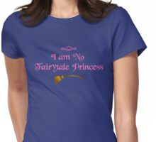 I am No Fairytale Princess - Dark Pink Womens Fitted T-Shirt