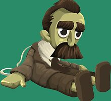Nietzsche doll for truly lovers - glitch videogame by EnjoyRiot