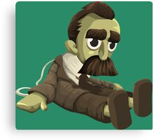 Nietzsche doll for truly lovers - glitch videogame Canvas Print