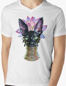 Cat Goddess Mens V-Neck T-Shirt