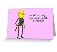 Adventure Time - Earl of Lemongrab Valentine Pink Greeting Card