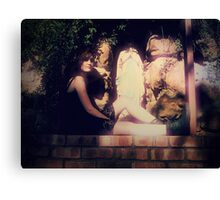 Pray for Us Canvas Print