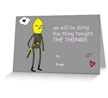 Adventure Time - Earl of Lemongrab Valentine Hearts Greeting Card