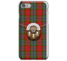 Clan MacLean Of Duart Tartan And Sporran iPhone Case/Skin
