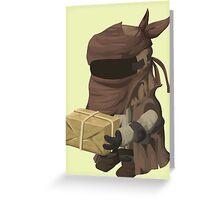 Inhabitant vendor - glitch videogame Greeting Card