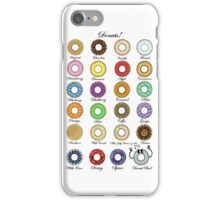 Donuts Statistics. iPhone Case/Skin
