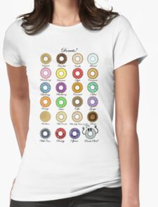 Donuts Statistics. Womens Fitted T-Shirt