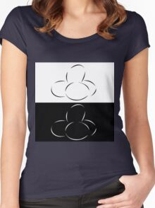 Abstract eggs Women's Fitted Scoop T-Shirt