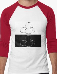 Abstract eggs Men's Baseball ¾ T-Shirt