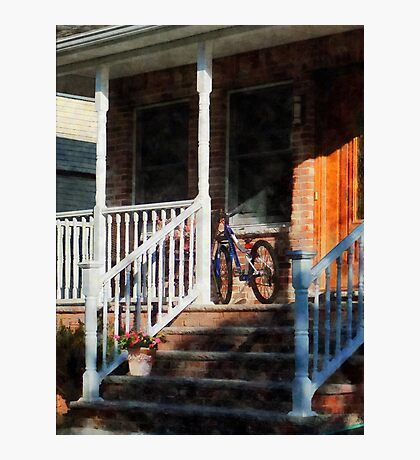 Bicycle on Porch Photographic Print