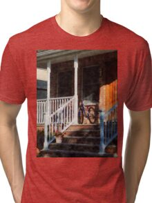 Bicycle on Porch Tri-blend T-Shirt