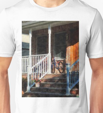 Bicycle on Porch Unisex T-Shirt