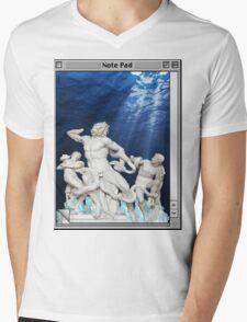 Atlantis waters Vaporwave Mens V-Neck T-Shirt