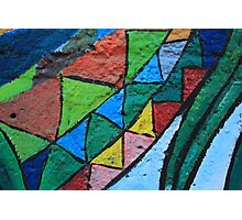 Colorful Painted Patterns Photographic Print