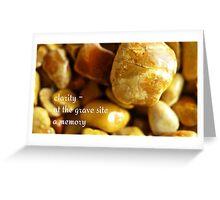 memorial stones Greeting Card
