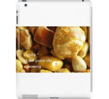 memorial stones iPad Case/Skin