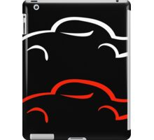 Vintage car drawn with abstract lines  iPad Case/Skin
