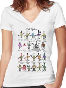 Bill Cipher Statistics. Women's Fitted V-Neck T-Shirt