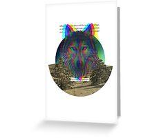 Wolf Hologram  Greeting Card