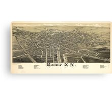 Panorama View of Rome New York (1886) Canvas Print