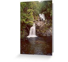 Eas Chia-aig or Caig Falls, Achnacarry Estate, Scotland Greeting Card