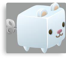 Cubimal Snowcone vendor - glitch videogame Canvas Print