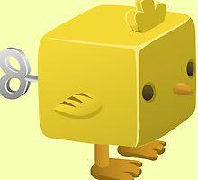 Cubimal chicken - glitch videogame by EnjoyRiot