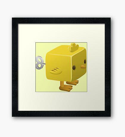 Cubimal chicken - glitch videogame Framed Print