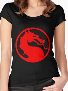 Mortal Kombat - Red Dragon Women's Fitted Scoop T-Shirt