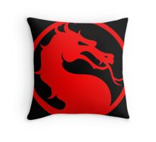 Mortal Kombat - Red Dragon Throw Pillow