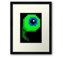 Septic Sam 8bit - 1500 views edition! Framed Print