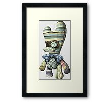Bag butler - glitch videogame Framed Print