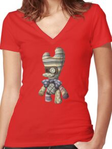 Bag butler - glitch videogame Women's Fitted V-Neck T-Shirt