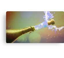 Champagne Pouring Over Us Canvas Print