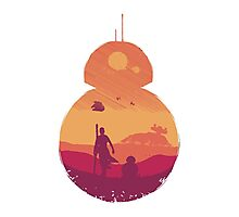 BB-8 (white) Photographic Print