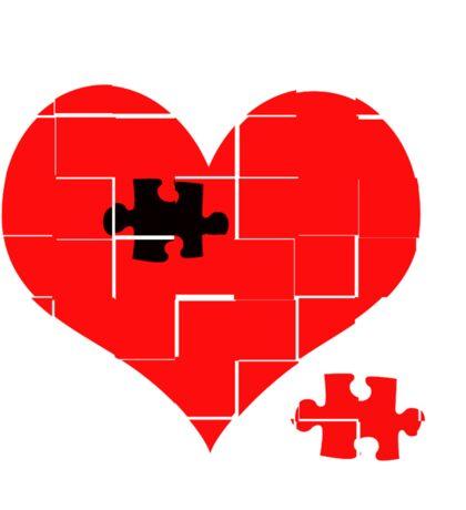 Heart Jigsaw the Missing Piece Sticker
