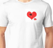 Heart Jigsaw the Missing Piece Unisex T-Shirt