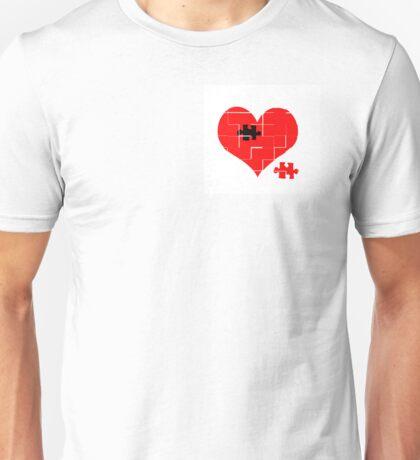 Heart Jigsaw the Missing Piece Unisex T-Shirt