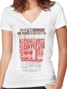 Coffee to go! Women's Fitted V-Neck T-Shirt