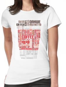 Coffee to go! Womens Fitted T-Shirt