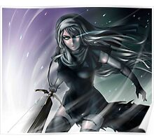 Galatea silver eyes - claymore Poster