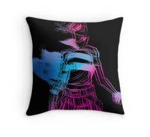 Frankie get your gun neon Throw Pillow